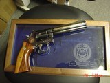 Smith & Wesson 586 no dash,Cleveland Police Dept.Comm.,24K engraved,wood grips,glass & wood pres.case,1986,#460 of 500-awesome - 13 of 15