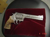 """Smith & Wesson 629,The Rising Eagle,deep relief engraved, #200 of 300, 6 1/2"""",44mag,carved wood grips,pres case-awesome engraving ! - 15 of 15"""