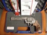 """Smith & Wesson 629,The Rising Eagle,deep relief engraved, #200 of 300, 6 1/2"""",44mag,carved wood grips,pres case-awesome engraving ! - 14 of 15"""