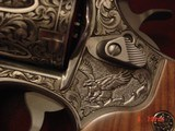 """Smith & Wesson 629,The Rising Eagle,deep relief engraved, #200 of 300, 6 1/2"""",44mag,carved wood grips,pres case-awesome engraving ! - 4 of 15"""