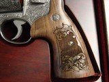 """Smith & Wesson 629,The Rising Eagle,deep relief engraved, #200 of 300, 6 1/2"""",44mag,carved wood grips,pres case-awesome engraving ! - 5 of 15"""