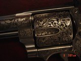 """Smith & Wesson 629,The Rising Eagle,deep relief engraved, #200 of 300, 6 1/2"""",44mag,carved wood grips,pres case-awesome engraving ! - 6 of 15"""