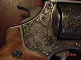 """Smith & Wesson 629,The Rising Eagle,deep relief engraved, #200 of 300, 6 1/2"""",44mag,carved wood grips,pres case-awesome engraving ! - 9 of 15"""