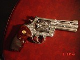 """Colt Anaconda 4"""",fully engraved & polished by Flannery Engraving,44 mag,Rosewood custom grips, box,Manual etc,a true work of art !! - 15 of 15"""