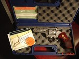 """Colt Anaconda 4"""",fully engraved & polished by Flannery Engraving,44 mag,Rosewood custom grips, box,Manual etc,a true work of art !! - 7 of 15"""