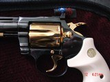 """Colt Diamondback 4"""" 1967,just refinished in Pres.grade blue,& 24K accents,Bonded ivory grips,a true showpiece !! - 5 of 13"""