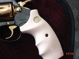 """Colt Diamondback 4"""" 1967,just refinished in Pres.grade blue,& 24K accents,Bonded ivory grips,a true showpiece !! - 4 of 13"""