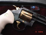 """Colt Diamondback 4"""" 1967,just refinished in Pres.grade blue,& 24K accents,Bonded ivory grips,a true showpiece !! - 8 of 13"""