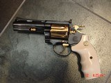 """Colt Diamondback 4"""" 1967,just refinished in Pres.grade blue,& 24K accents,Bonded ivory grips,a true showpiece !! - 3 of 13"""