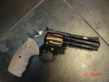 """Colt Diamondback 4"""" 1967,just refinished in Pres.grade blue,& 24K accents,Bonded ivory grips,a true showpiece !! - 2 of 13"""