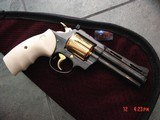 """Colt Diamondback 4"""" 1967,just refinished in Pres.grade blue,& 24K accents,Bonded ivory grips,a true showpiece !! - 7 of 13"""