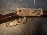 Winchester model 94 30-30 Butte County SD A&A master engraved, 24k gold plated, & nickel.certificate, PROOF gun - 8 of 12