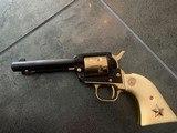 Colt Commemorative-The Alamo,never fired,22LR,wood case,24k gold & high gloss blue,engraved backstrap - 1 of 10