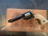 Colt Commemorative-The Alamo,never fired,22LR,wood case,24k gold & high gloss blue,engraved backstrap - 9 of 10