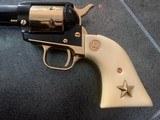 Colt Commemorative-The Alamo,never fired,22LR,wood case,24k gold & high gloss blue,engraved backstrap - 2 of 10