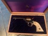 Colt Commemorative-The Alamo,never fired,22LR,wood case,24k gold & high gloss blue,engraved backstrap - 6 of 10