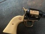 Colt Commemorative-The Alamo,never fired,22LR,wood case,24k gold & high gloss blue,engraved backstrap - 5 of 10