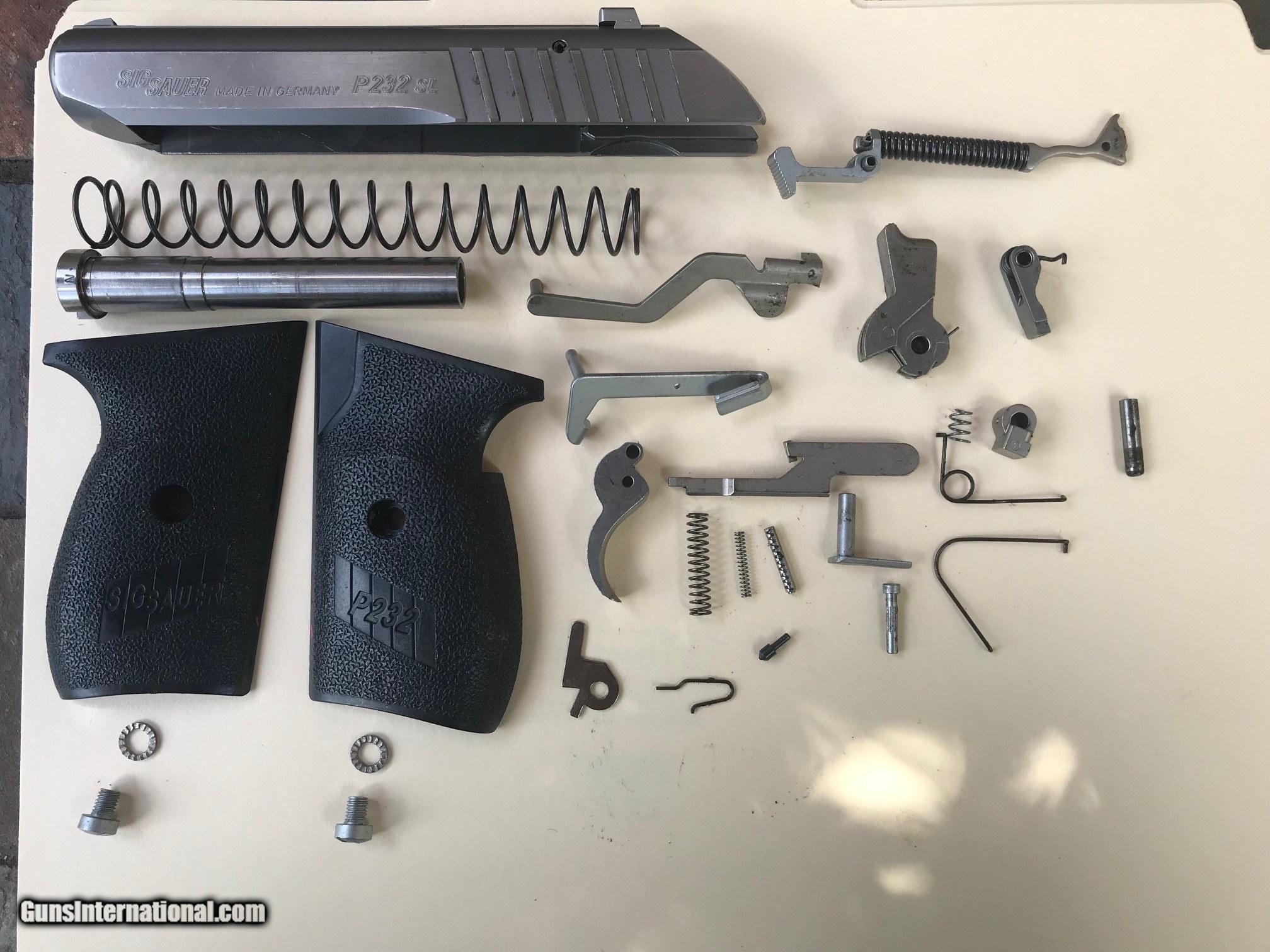 Parts Kit Sig P232/Complete Minus Frame