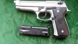 "Beretta 92 FS 9mm 5"" bl. new in case with extra mag. papers and cleaning equip."