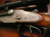 Very fine and Rare scoped Fried. Bartels Double Rifle in cal 9x72R