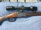 Pre-war Kessler built Break action rifle in 25-35 - 1 of 9