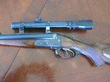 Pre-War Otto Bock cape gun sold in Berlin 8x57J/20 ga with scope and claw mounts.
