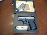 Kahr P9 with box, two extra mags and Trijicon night sights
