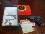 Ruger Standard Pistol from 1967, complete with sale receipt, box,papers and factory extra mag