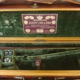 Joseph Lang Oak & Leather gun case