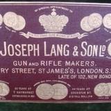 Joseph Lang Oak & Leather gun case - 4 of 4