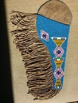 Crow Beaded and Fringed Holster - 1 of 2