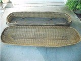 ***RARE***....Spanish American War & Indian Wars, Wicker Military Casket