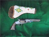 """Bacon .31 cal Revolver in Beaded Holster Very Good... """"SN 40""""......LAYAWAY?"""