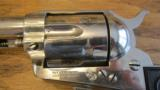 Colt Single Action Army .45 LC Revolver Nickel - 5 of 10