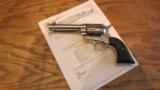 Colt Single Action Army .45 LC Revolver Nickel - 1 of 10