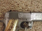 COLT ENGRAVED 1911 STAINLESS 38 SUPER - 4 of 9