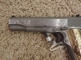 COLT ENGRAVED 1911 STAINLESS 38 SUPER - 5 of 9