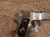 COLT 1911 BRUSHED STAINLESS 38 SUPER CUSTOM ENGRAVED - 6 of 6