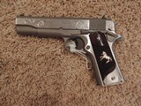 COLT 1911 BRUSHED STAINLESS 38 SUPER CUSTOM ENGRAVED - 3 of 6