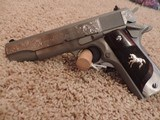 COLT 1911 BRUSHED STAINLESS 38 SUPER CUSTOM ENGRAVED - 2 of 6