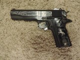 COLT 1911 GOVERNMENT 38 SUPER CUSTOM ENGRAVED NEW -SOLD - 1 of 2