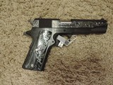 COLT 1911 GOVERNMENT 38 SUPER CUSTOM ENGRAVED NEW -SOLD - 2 of 2
