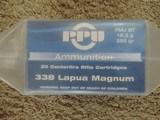 PPU 338 LAPUA MAGNUM FIVE BOXES