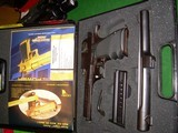 """Desert Eagle 357 magnum with 10"""" barrel polygonal rifling and integral scope bases extra magazine, box and papers"""