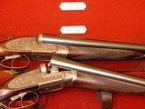 """E.J. Churchill Sidelock Ejector (matched pair) Toplever Double Barrel 12 bore 2 1/2"""" game guns - 15 of 15"""