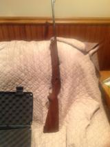 Winchester model 75 sporter with grooved receiver