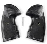 Colt Python Finger Groove Grips Silverblack