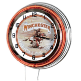 "Winchester Rifles 308 18"" Red Double Neon Clock"