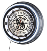 "Smith & Wesson 686 18"" Double Neon Clock S&W 29"