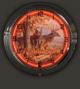 "Remington 17"" Neon Clock Free Shipping"
